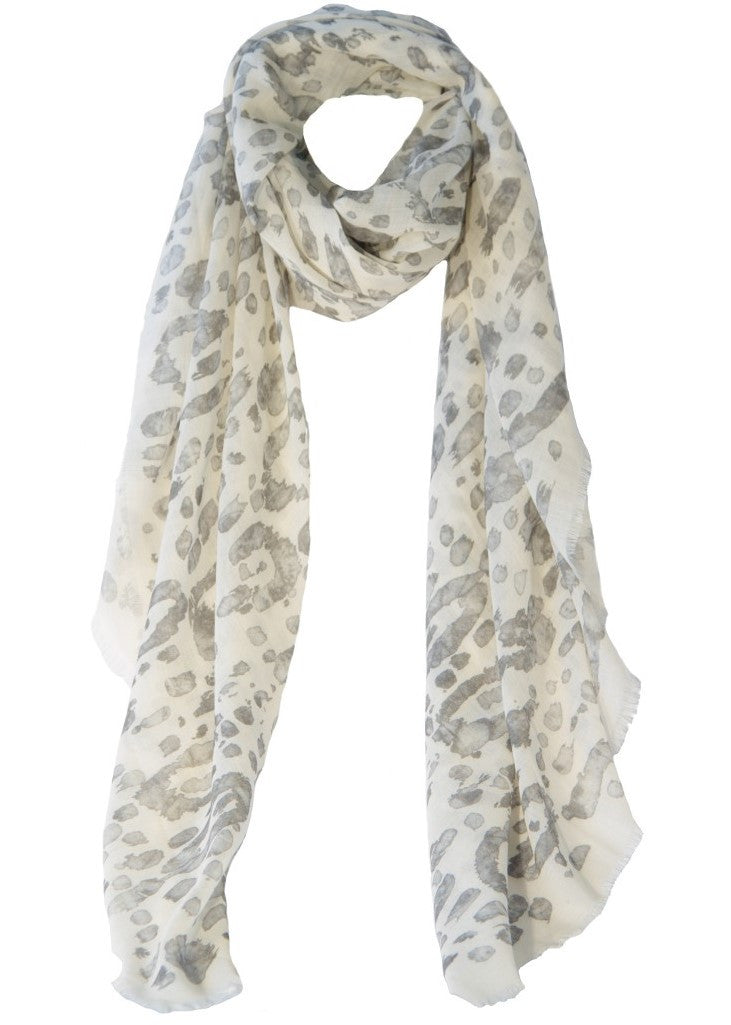Ashley Ashoff snow leopard Cashmere Blend Scarf