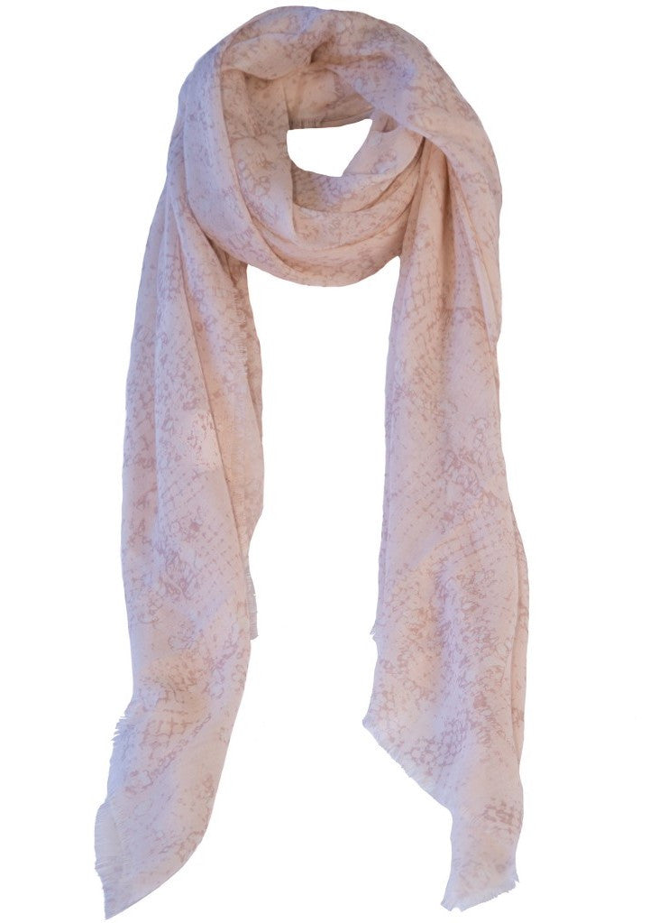 Ashley Ashoff Coccodrillo Rose Poudré cashmere blend scarf