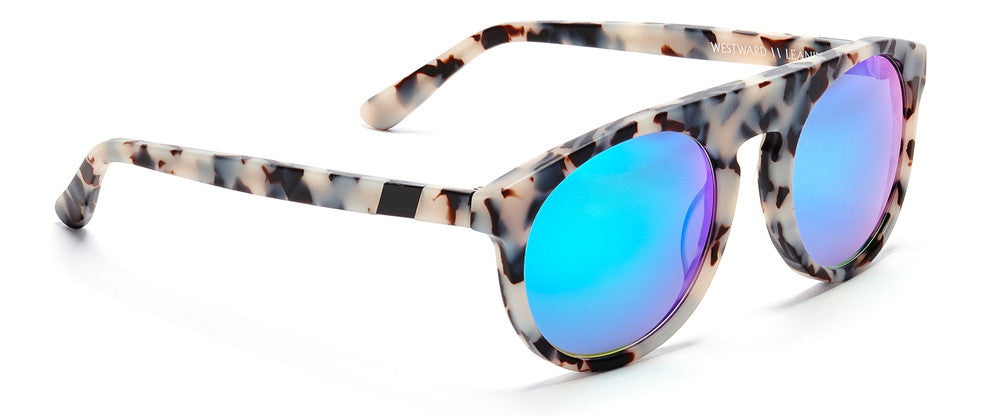 Westward Leaning atlas 4 sunglasses snow leopard matte/cyan