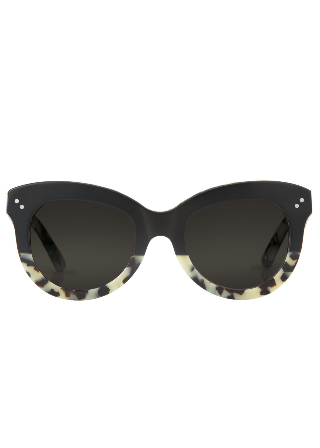 Krewe julia sunglasses matte black au lait