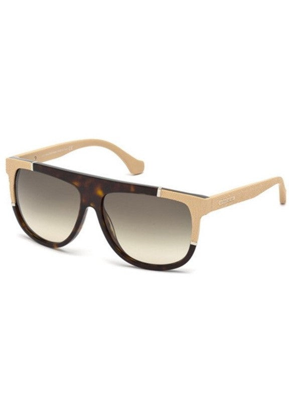Balenciaga acetate shield sunglasses dark havana