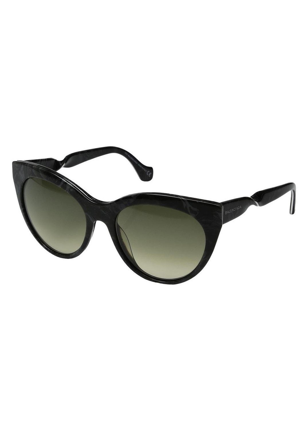 Balenciaga cat eye twisted sunglasses black