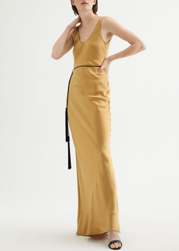 Nili Lotan Bazile gown in golden