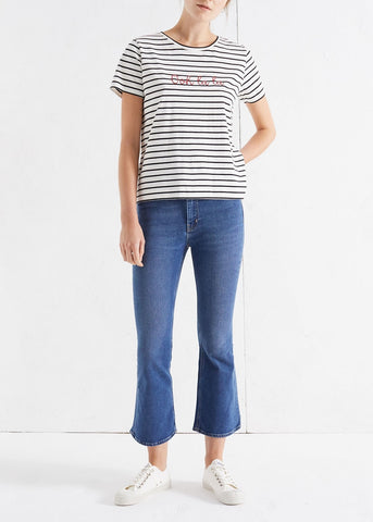 Chinti & Parker ooh lala striped tee ivory