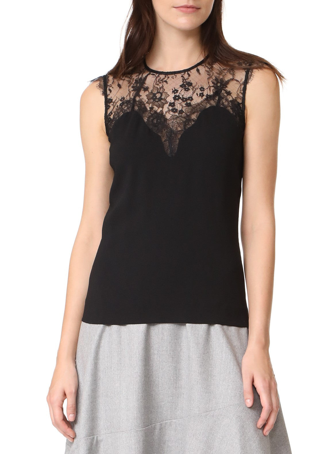 Carven lace top black
