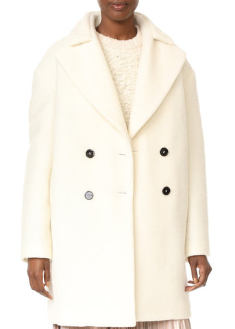 Carven oversized coat white
