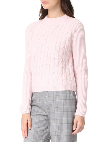 Carven cableknit sweater rose