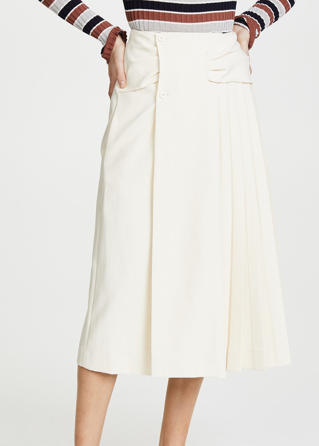 Carven pleated skirt ivory