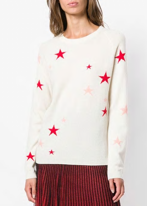 Chinti and Parker Star sweater in creme