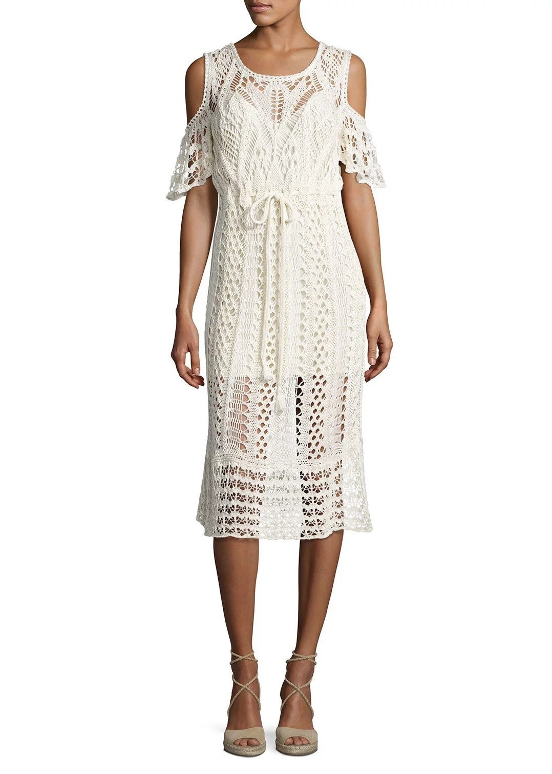 See by Chloe crochet dress natural