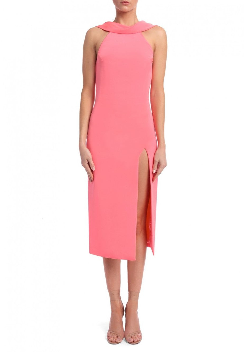 Cushnie et Ochs Anna Dress Flamingo