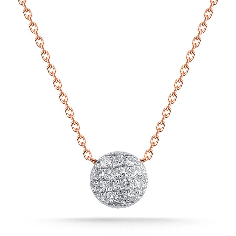 "Dana Rebecca ""LAUREN JOY"" mini diamond disc necklace"
