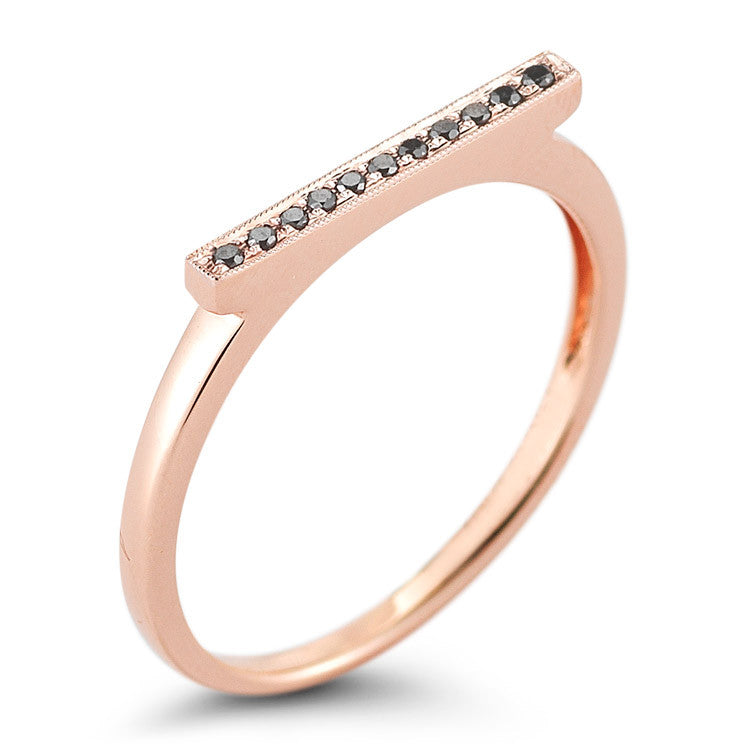 "Dana Rebecca ""SYLVIE ROSE"" diamond bar ring"