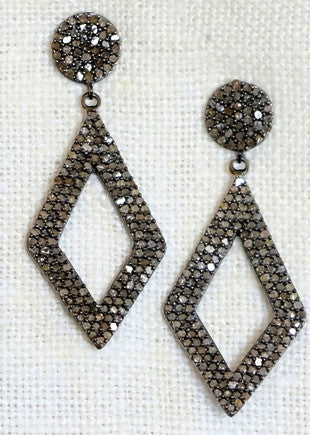Designs by Alina 'anniversary' pave diamond earrings