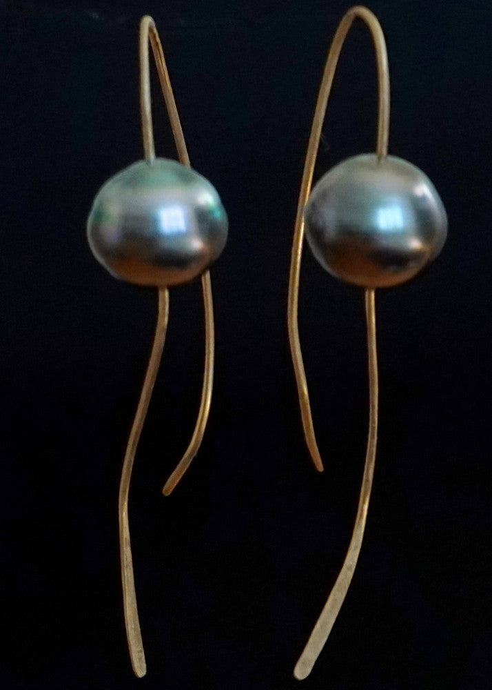 Designs by Alina Greek Tahitian pearl earrings