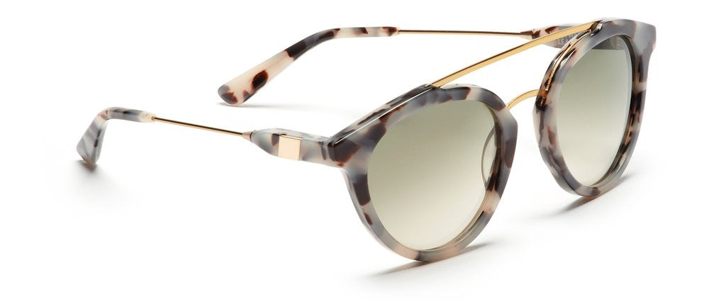 Westward Leaning double bridge 1 sunglasses gold leopard