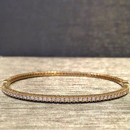 Rocks with Soul 1.53 kt diamond bangle set in 18kt gold