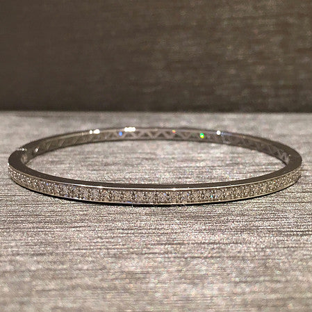 Rocks with Soul 1.35 kt diamond bangle set in 18k white gold