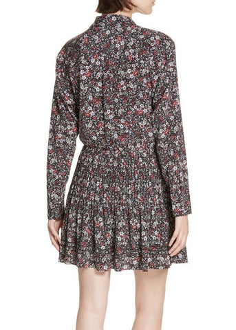 Veronica Beard Rory dress in black multi