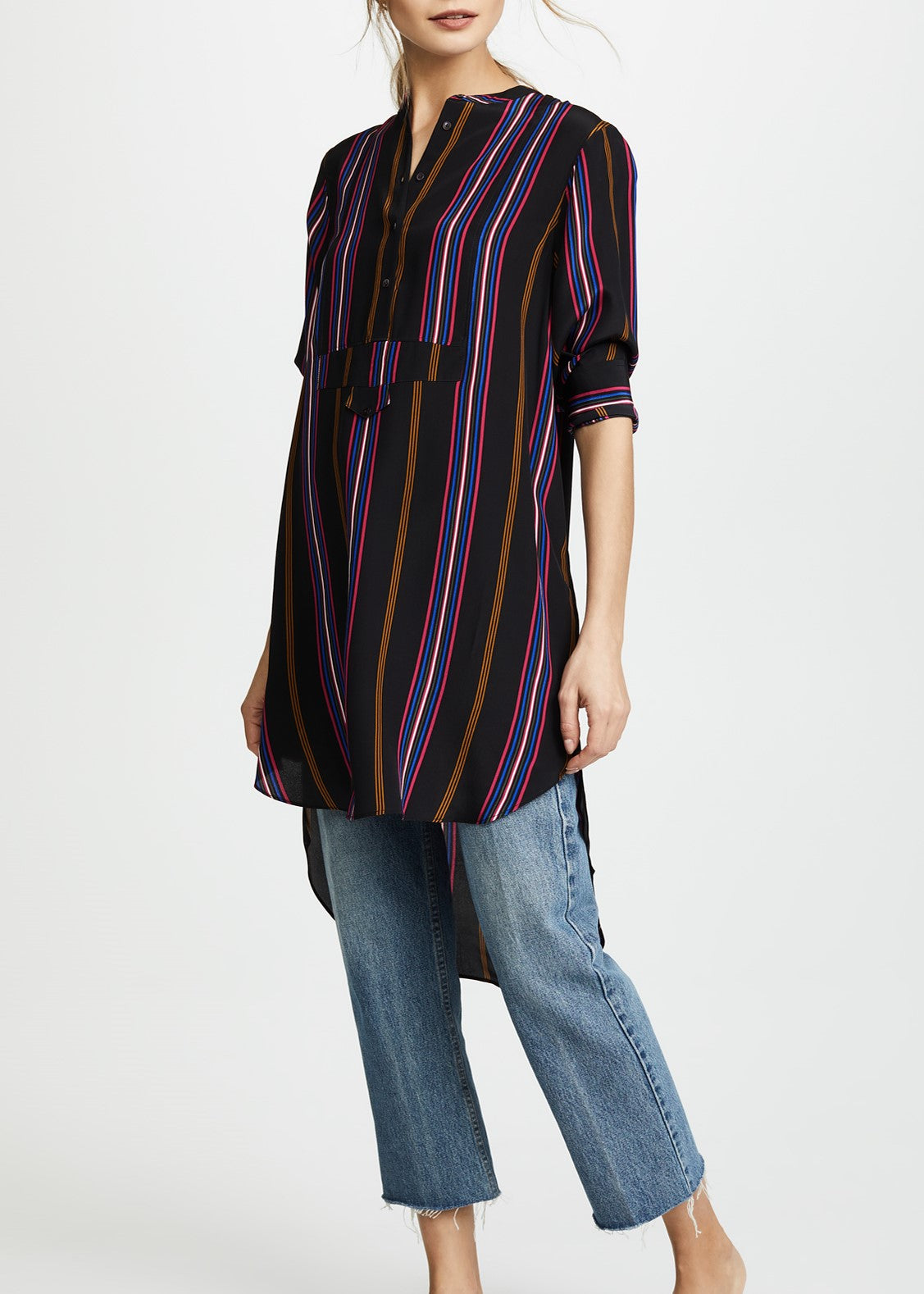 Figue Thalie dress in ashbury stripe