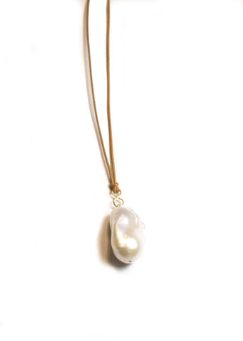 Designs by Alina forever pearl necklace with 14k gold infinity bail and clasp