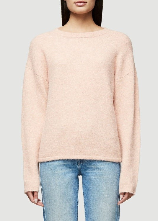 Frame boxy boyfriend sweater dirty pink