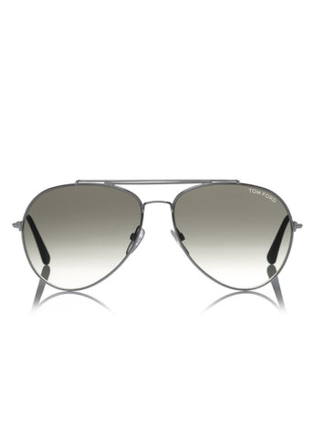Tom Ford indiana aviator sunglasses silver