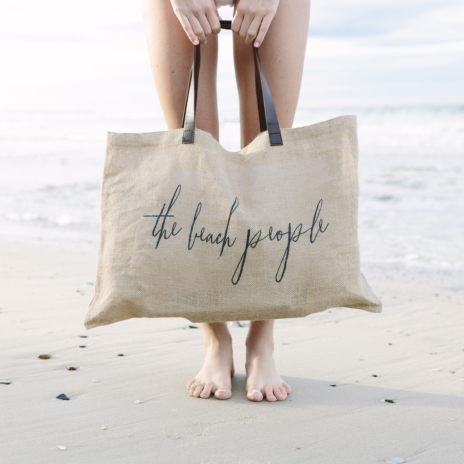 The Beach People original jute tote bag