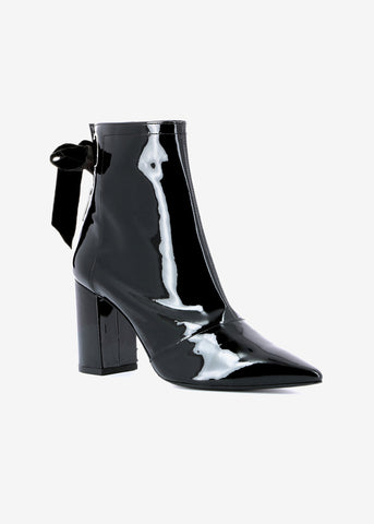Robert Clergerie x Self Portrait karli patent boot black
