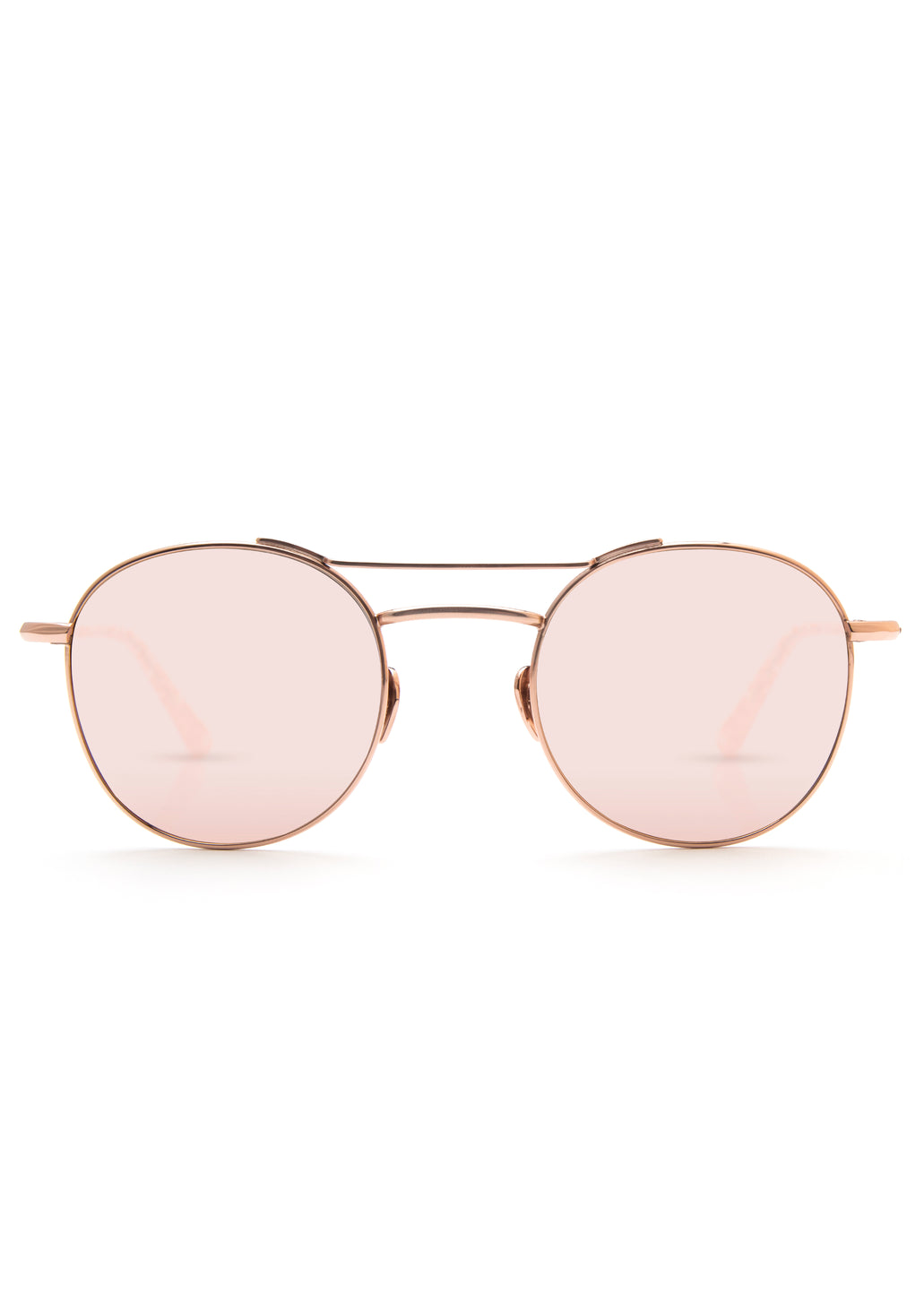 Krewe orleans sunglasses rose gold titanium