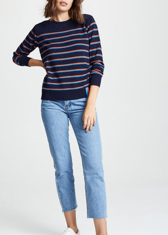 Kule Samara sweater in navy blue poppy