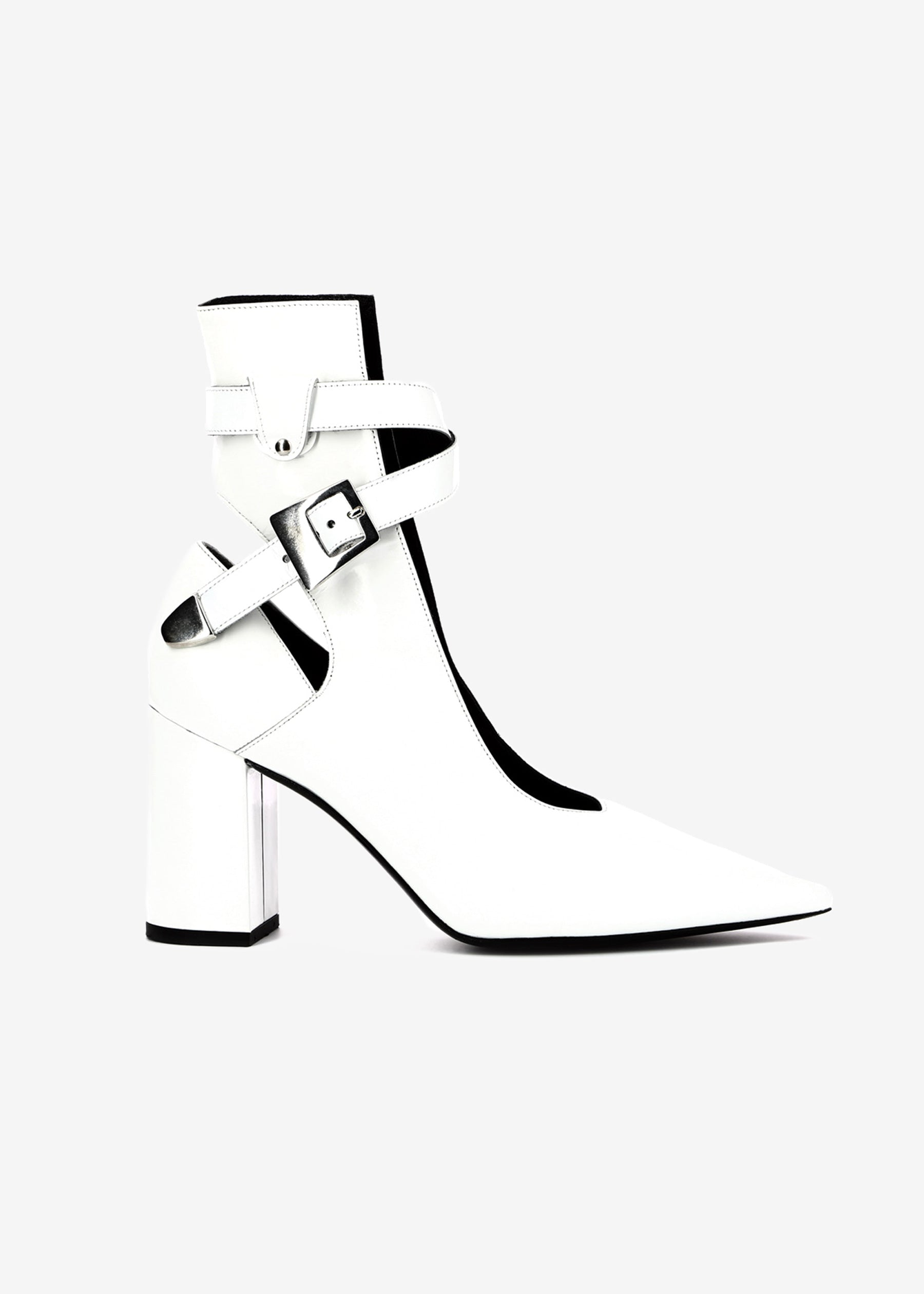 Robert Clergerie x Self Portrait kult heel white