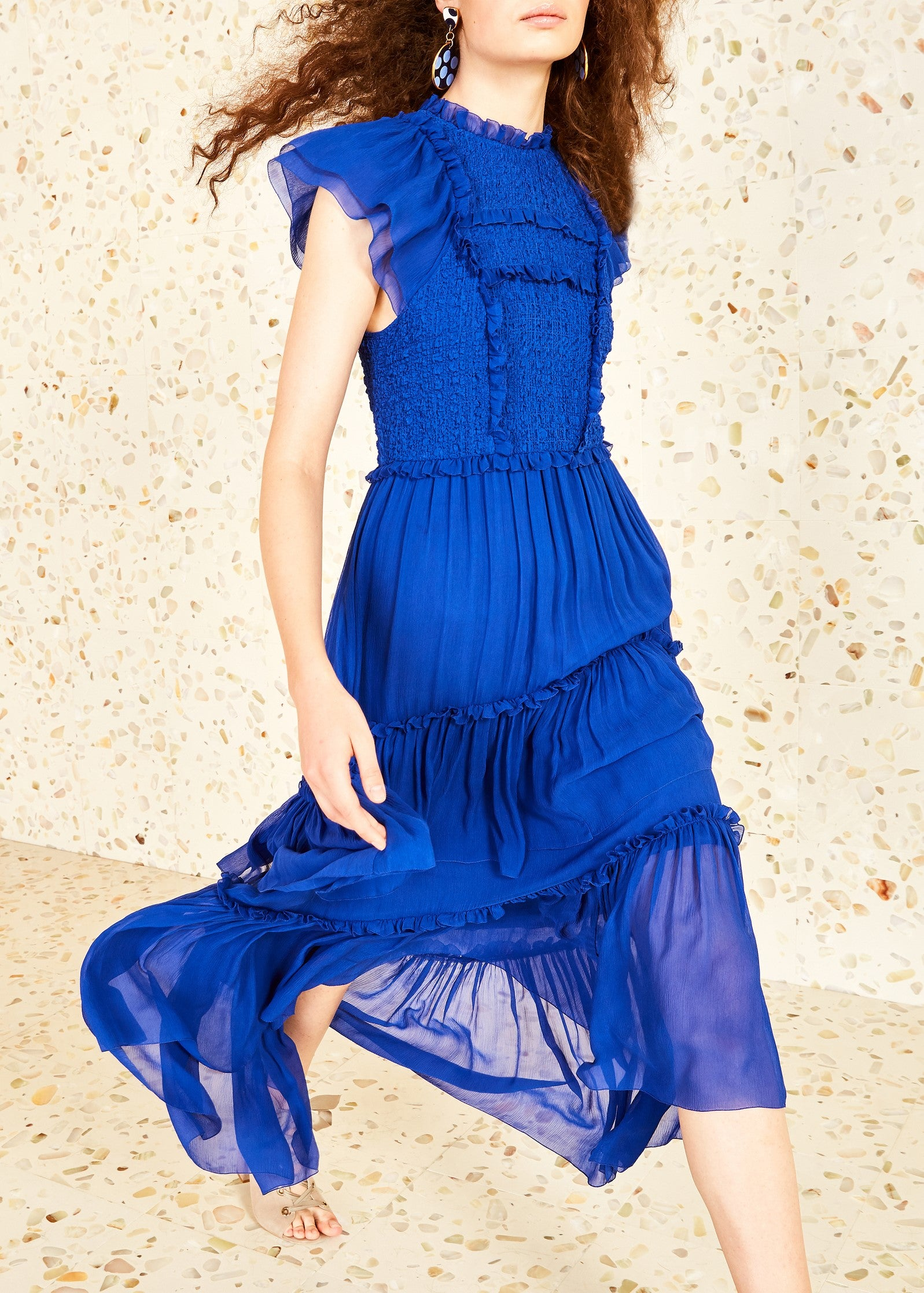 Ulla Johnson Lenore dress in cobalt