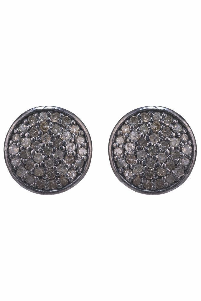 Lera Jewels diamond round stud earrings