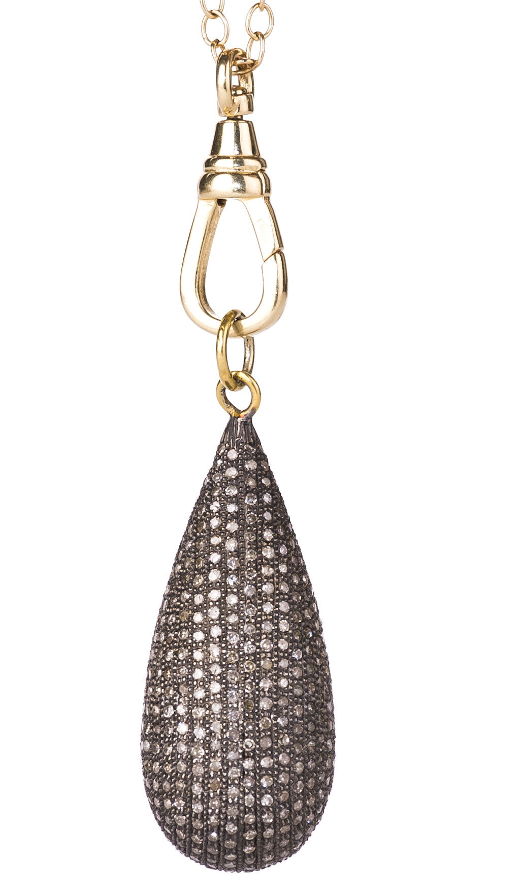 Lera Jewels large diamond teardrop necklace