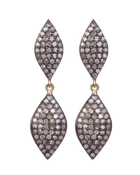Lera Jewels mini 2-tier marquis earrings