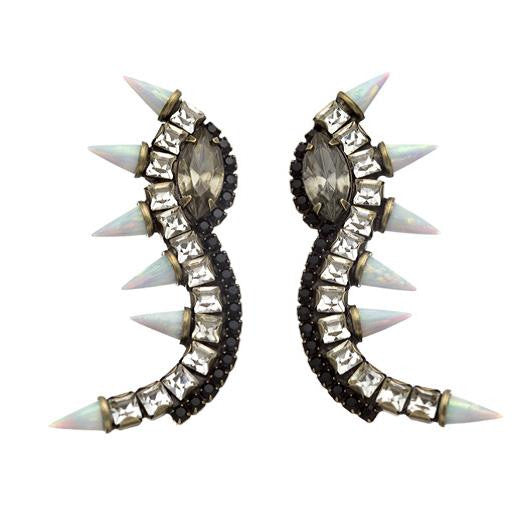 Lionette orian earrings white