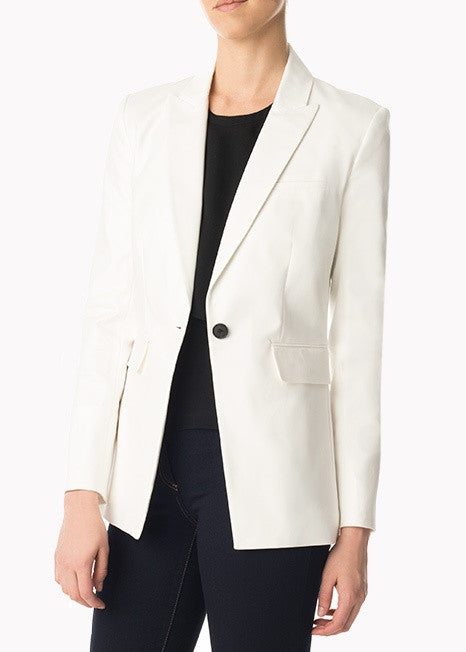 Veronica Beard white long and lean jacket