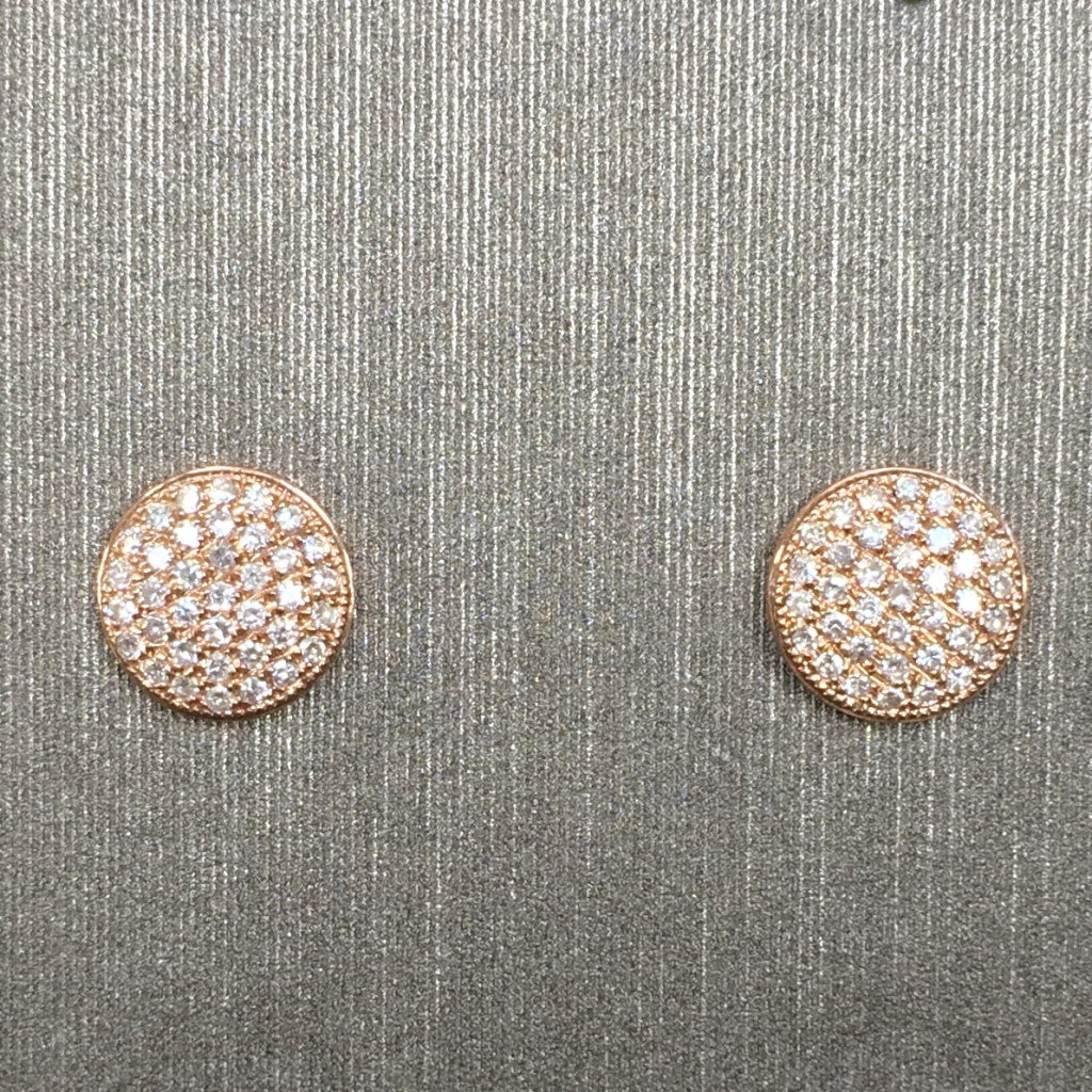 Rocks with Soul Pave Disc Stud Medium