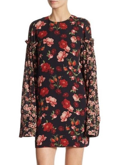 Mother of Pearl floral longsleeve dress pink
