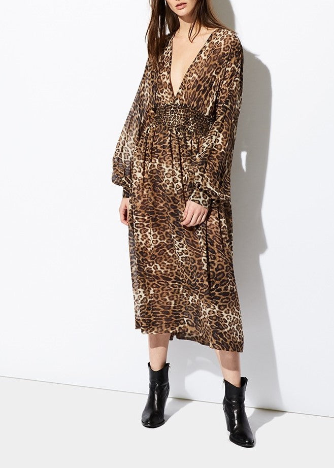Nili Lotan Brienne dress in leopard print