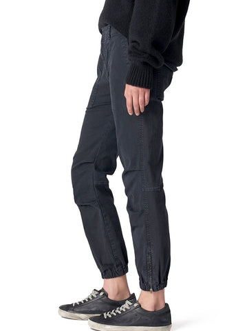 Nili Lotan Cropped military pant in dark navy