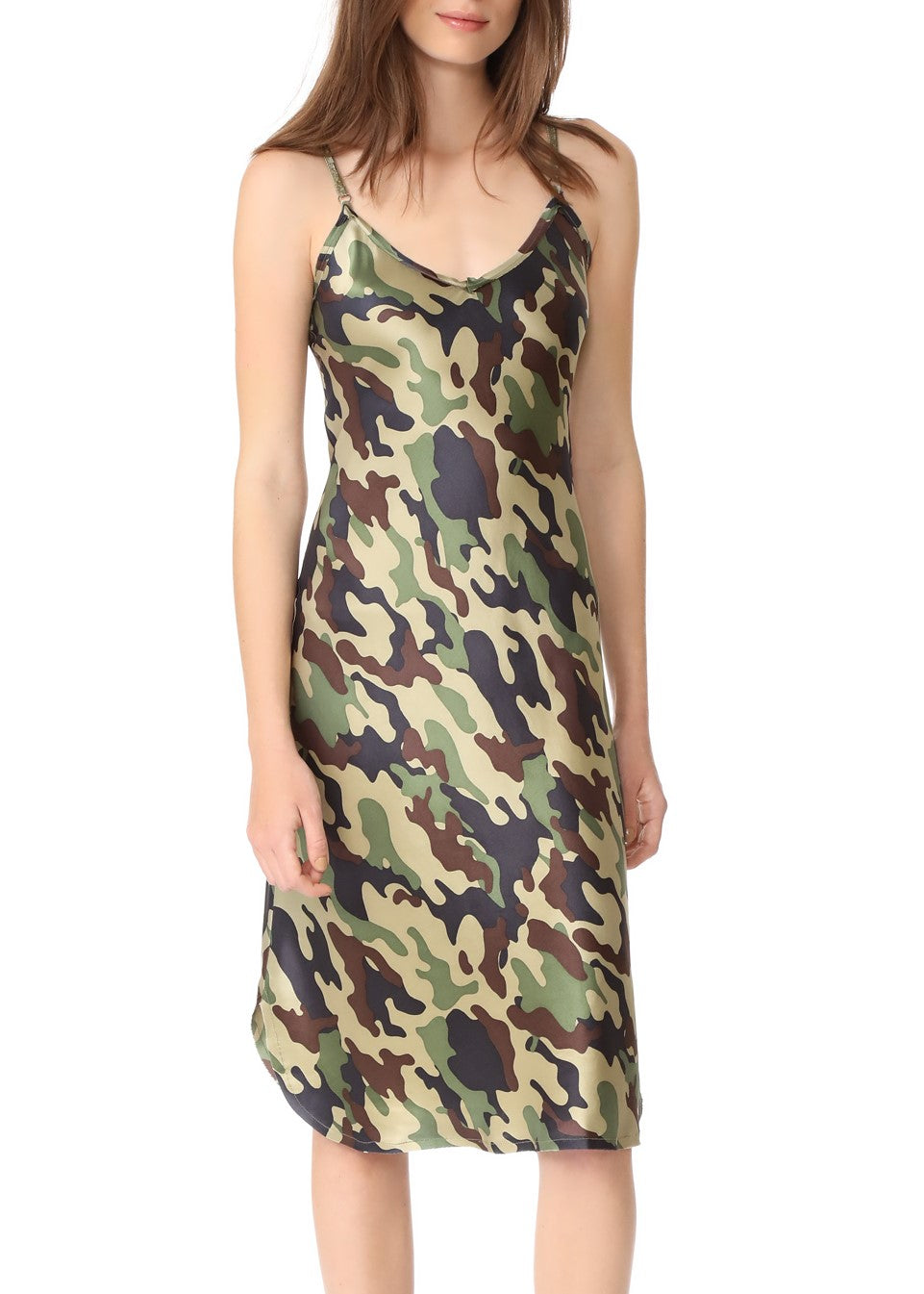 Nili Lotan silk camo dress