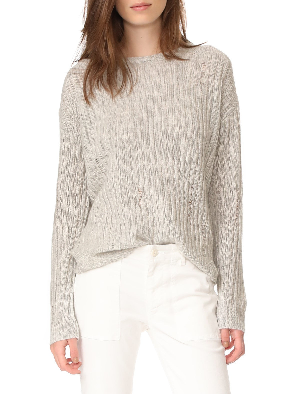 Nili Lotan baxter sweater light grey