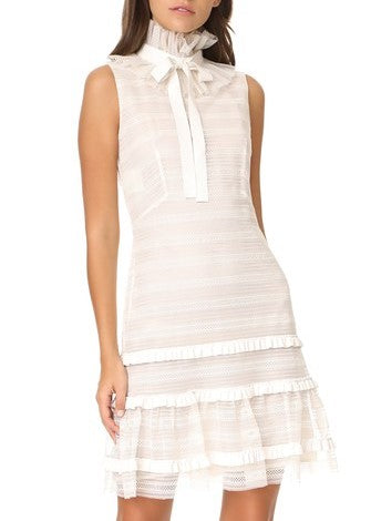 Philosophy di Lorenzo Serafini sleeveless tie neck dress ivory