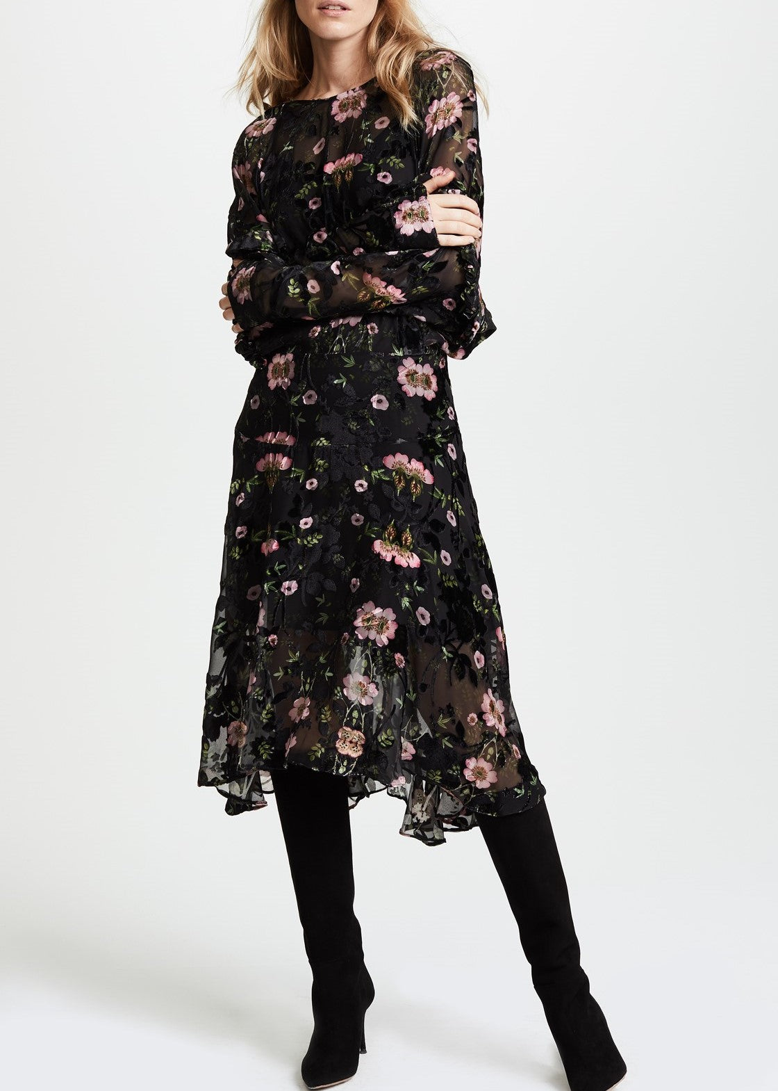 Preen evelina dress wild rose