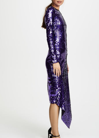Preen clarissa dress violet
