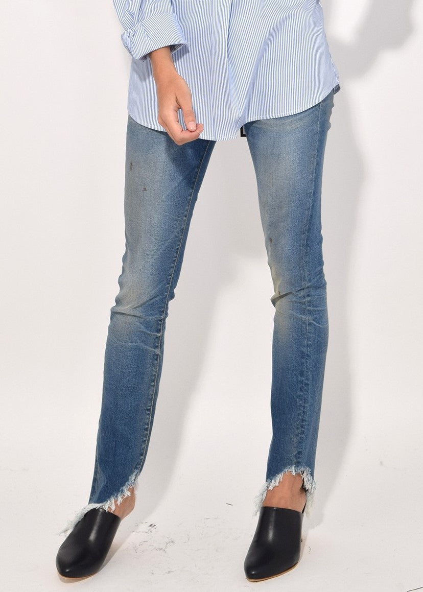 R13 kate skinny with angled hem branson