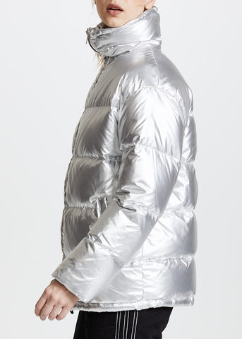 SJYP metallic down jacket silver