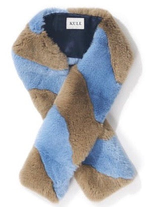 Kule Lloyd scarf in camel light blue